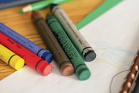 Prang Non-Toxic Molded Crayon Set in Tuck Box, 3-1/2 x 5/16 in, Assorted Color, Set of 8 Item Number 001287