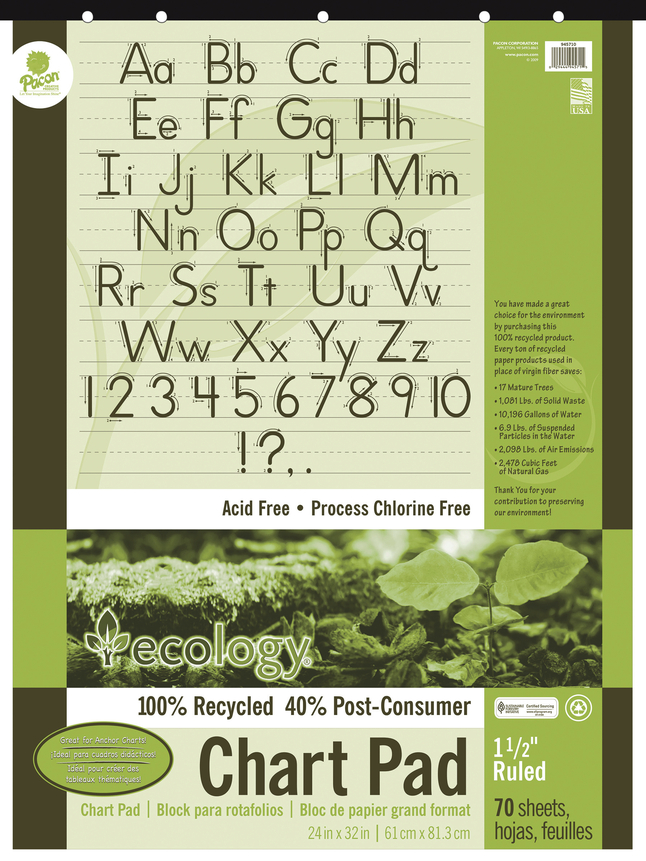 Chart Tablets, Chart Supplies, Item Number 006429