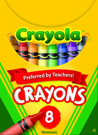 Crayola Standard Size Crayons in Tuck Box, Set of 8 Item Number 007503