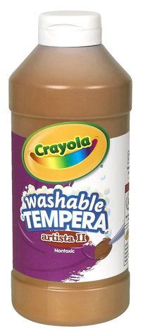 Crayola Artista II  Washable Tempera Paint, Pint, Brown Item Number 007680