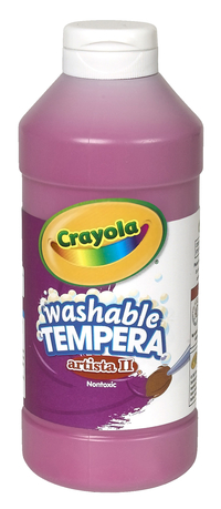 Crayola Artista II  Washable Tempera Paint, Pint, Magenta Item Number 007686