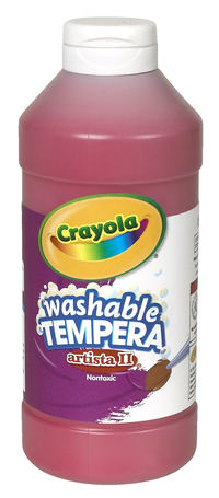 Crayola Artista II  Washable Tempera Paint, Pint, Red Item Number 007692