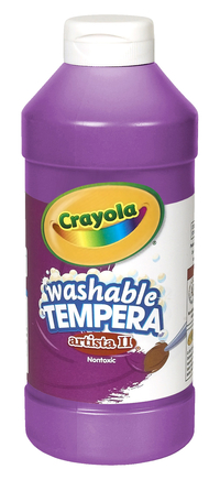 Crayola Artista II  Washable Tempera Paint, Pint, Violet Item Number 007695