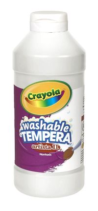 Crayola Artista II  Washable Tempera Paint, Pint, White Item Number 007698