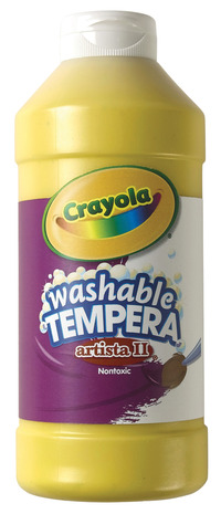 Crayola Artista II  Washable Tempera Paint, Pint, Yellow Item Number 007701