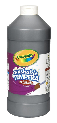 Crayola Artista II  Washable Tempera Paint, Quart, Black Item Number 007704