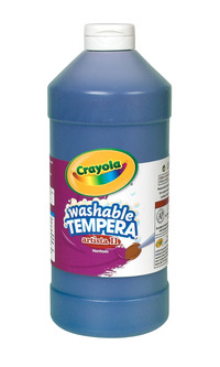 Crayola Artista II  Washable Tempera Paint, Pint, Blue Item Number 007677