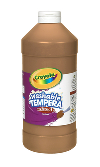 Crayola Artista II  Washable Tempera Paint, Quart, Brown Item Number 007710