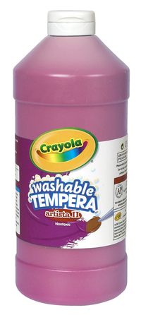 Crayola Artista II  Washable Tempera Paint, Quart, Magenta Item Number 007719