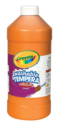Crayola Artista II  Washable Tempera Paint, Pint, Orange Item Number 007689