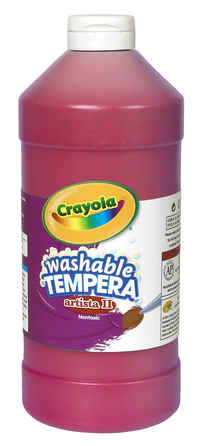 Crayola Artista II  Washable Tempera Paint, Quart, Red Item Number 007725