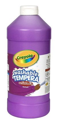 Crayola Artista II  Washable Tempera Paint, Quart, Violet Item Number 007728