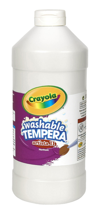 Crayola Artista II  Washable Tempera Paint, Quart, White Item Number 007731