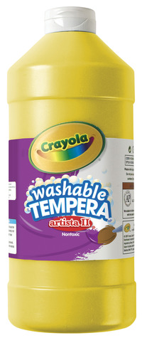 Crayola Artista II  Washable Tempera Paint, Quart, Yellow Item Number 007734