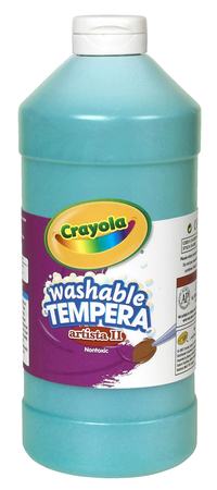 Crayola Artista II  Washable Tempera Paint, Quart, Turquoise Item Number 007735