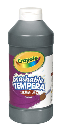Crayola Artista II  Washable Tempera Paint, Pint, Black Item Number 008151