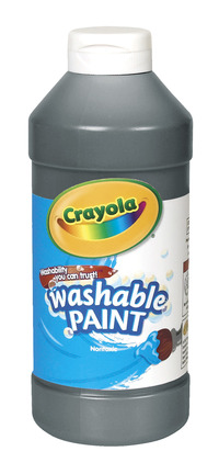 Crayola Washable Paint, Pint, Black Item Number 008226