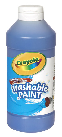 Crayola Washable Paint, Pint, Blue Item Number 008229