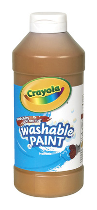 Crayola Washable Paint, Pint, Brown Item Number 008232