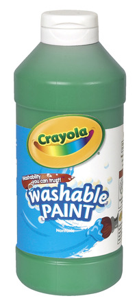 Crayola Washable Paint, Pint, Green Item Number 008235