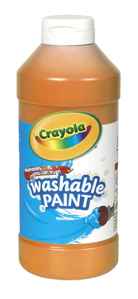 Crayola Washable Paint, Pint, Orange Item Number 008241