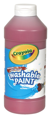 Crayola Washable Paint, Pint, Red Item Number 008247
