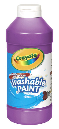 Crayola Washable Paint, Pint, Violet Item Number 008253