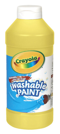 Crayola Washable Paint, Pint, Yellow Item Number 008259