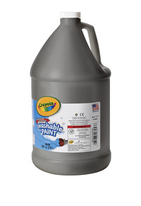 Crayola Washable Paint, Gallon, Black Item Number 008262