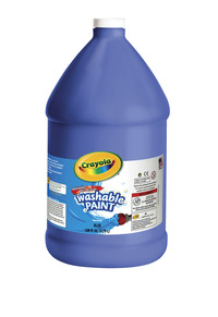 Crayola Washable Paint, Gallon, Blue Item Number 008265