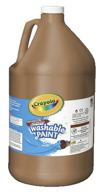 Crayola Washable Paint, Gallon, Brown Item Number 008268