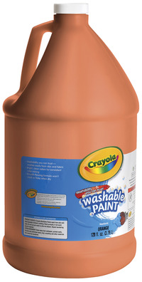 Crayola Washable Paint, Gallon, Orange Item Number 008277
