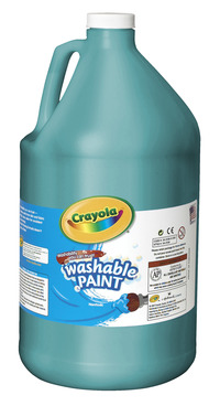 Crayola Washable Paint, Gallon, Turquoise Item Number 008286