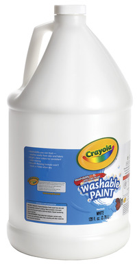 Crayola Washable Paint, Gallon, White Item Number 008292