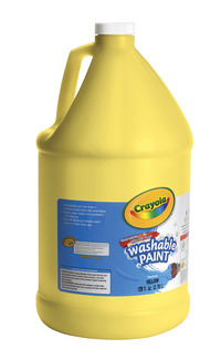 Crayola Washable Paint, Gallon, Yellow Item Number 008295