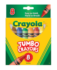 Crayola Jumbo Size Crayons in Tuck Box, Set of 8 Item Number 008418