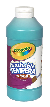 Crayola Artista II  Washable Tempera Paint, Pint, Turquoise Item Number 008580