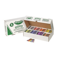 Crayola Standard Crayon Classroom Pack, 8 Assorted Colors, Set of 800 Item Number 008715