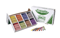 Crayola Jumbo Crayon Classroom Pack, 8 Assorted Colors, Set of 200 Item Number 008721