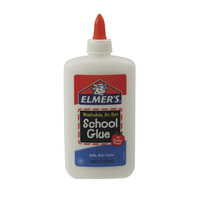 Elmer's Washable No Run School Glue, 7.625 Ounces, White and Dries Clear Item Number 008973
