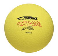 Sportime Super-Safe Rubber Playground Ball, 7 Inches, Yellow Item Number 009587
