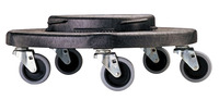 Rubbermaid Universal Conversion Dolly for Brute Trash Container, 250 Pound Capacity, Black Item Number 011179