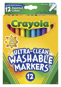 Washable Markers, Item Number 024034