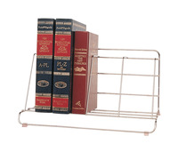 Fellowes Wire Catalog Rack, 8 X 16-1/2 X 10 in, 4 Compartments, Vinyl, Bright Plated Item Number