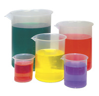 United Scientific Economy Plastic Beaker, Set of 5 Item Number 025-5420