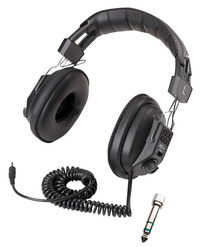 Califone 3068AV Stereo/Mono Headphones, 3.5mm Stereo Plug, Black Item Number 029009