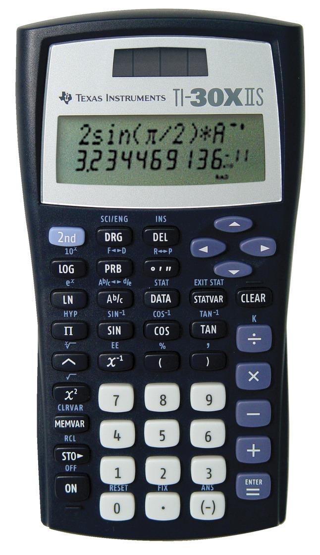 Texas Instruments TI-30X IIS Scientific Calculator, 2-Line Display, Dual  Power