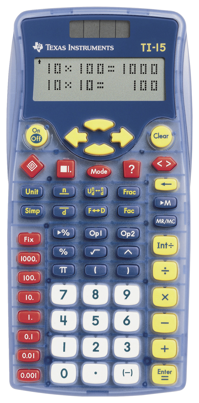 Basic and Primary Calculators, Item Number 038432