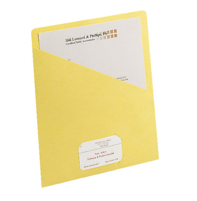 smead letter size slash jacket medium weight yellow pack of 25