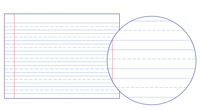 Lined Paper, Primary Ruled Paper, Item Number 038715